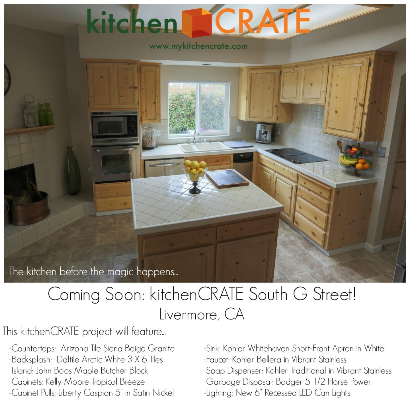 KitchenCRATE South G Street Begins In Livermore CA Kitchen Bath - Daltile livermore