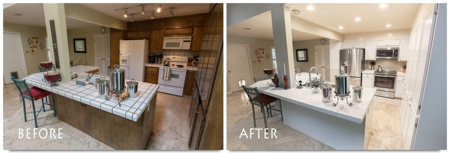 White Kitchen Remodel Before And After kitchen remodel stockton five mile drive complete