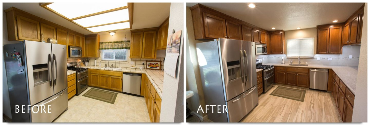 U Shaped Kitchen Remodel Before And After kitchen remodel oakdale naturewood drive complete