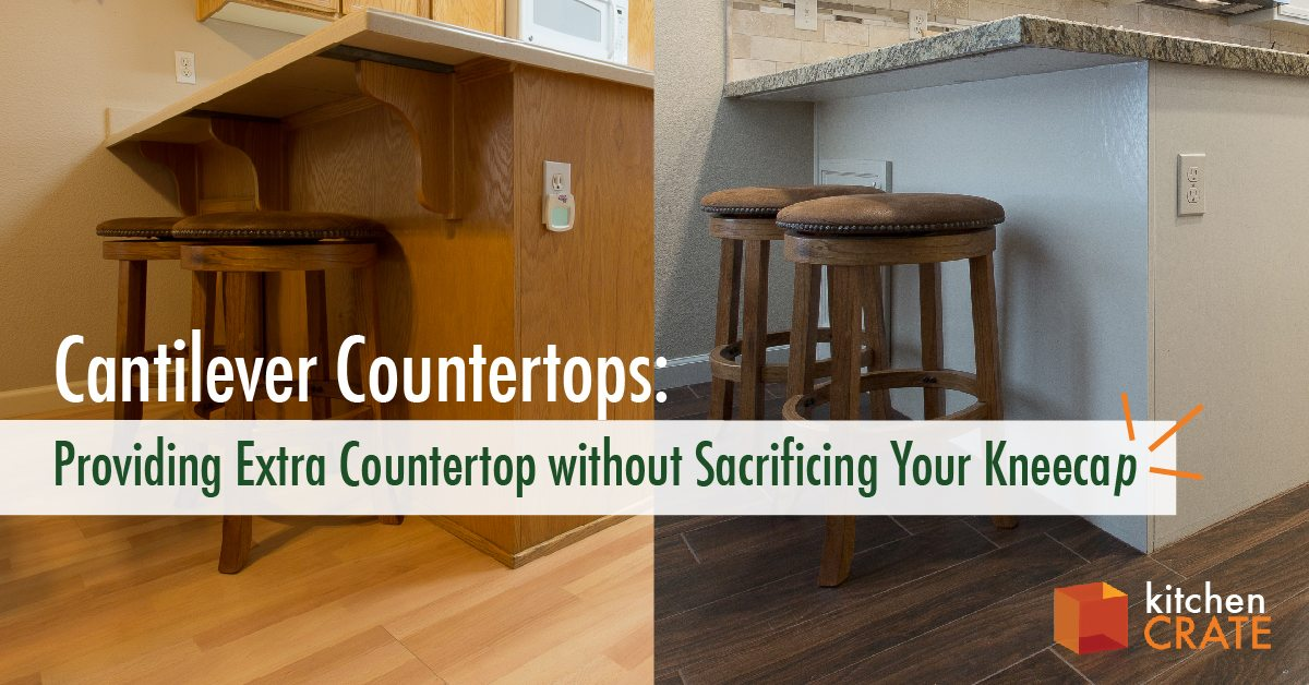 Cantilever Countertops Providing Extra Countertop Without