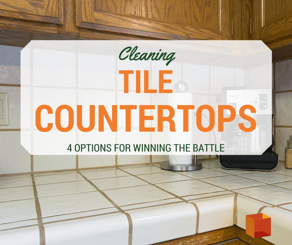 Elegant Cleaning Tile Countertops