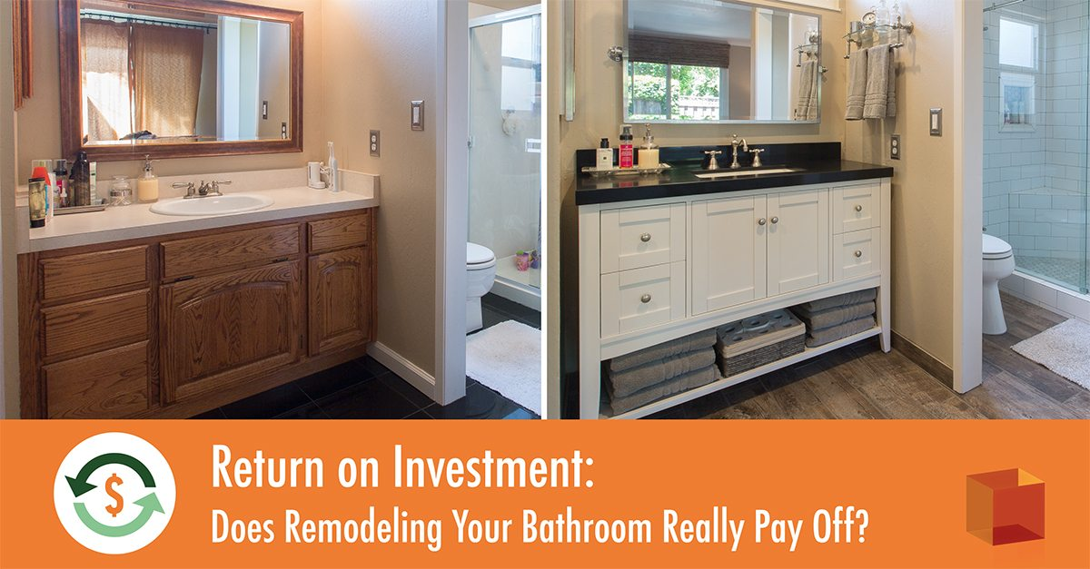 Bathroom Remodel Return On Investment Magnificent Return On Investment Does Remodeling Your Bathroom Really Pay Off . Inspiration