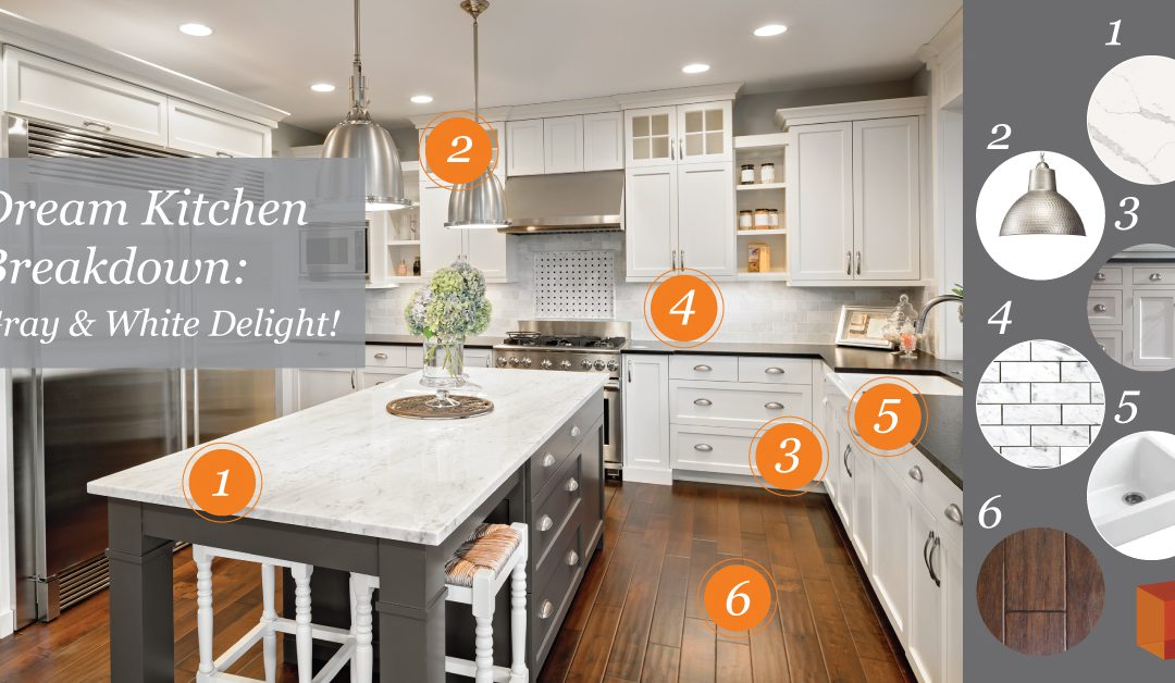 Dream Kitchen Breakdown: Gray & White Delight!