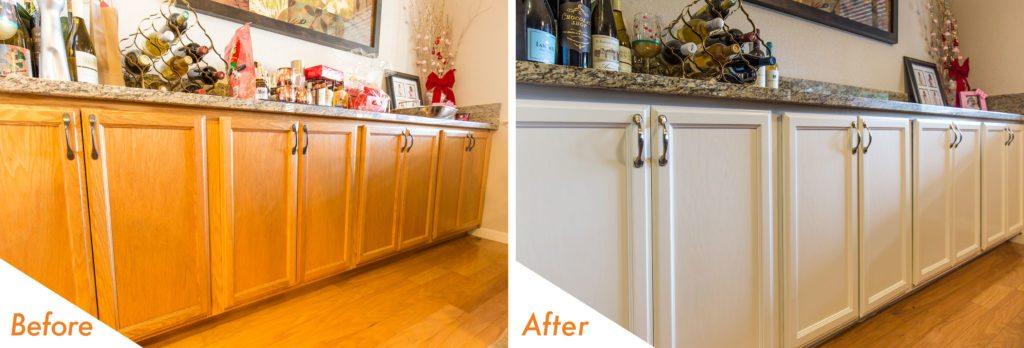 modern, white kitchen cabinets.
