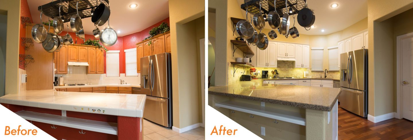 Take A Look At This Recent KitchenCRATE Project In Sundance Lake In Modesto!  Aside From The Normal Cabinet Refinishing And Countertop Installation, ...