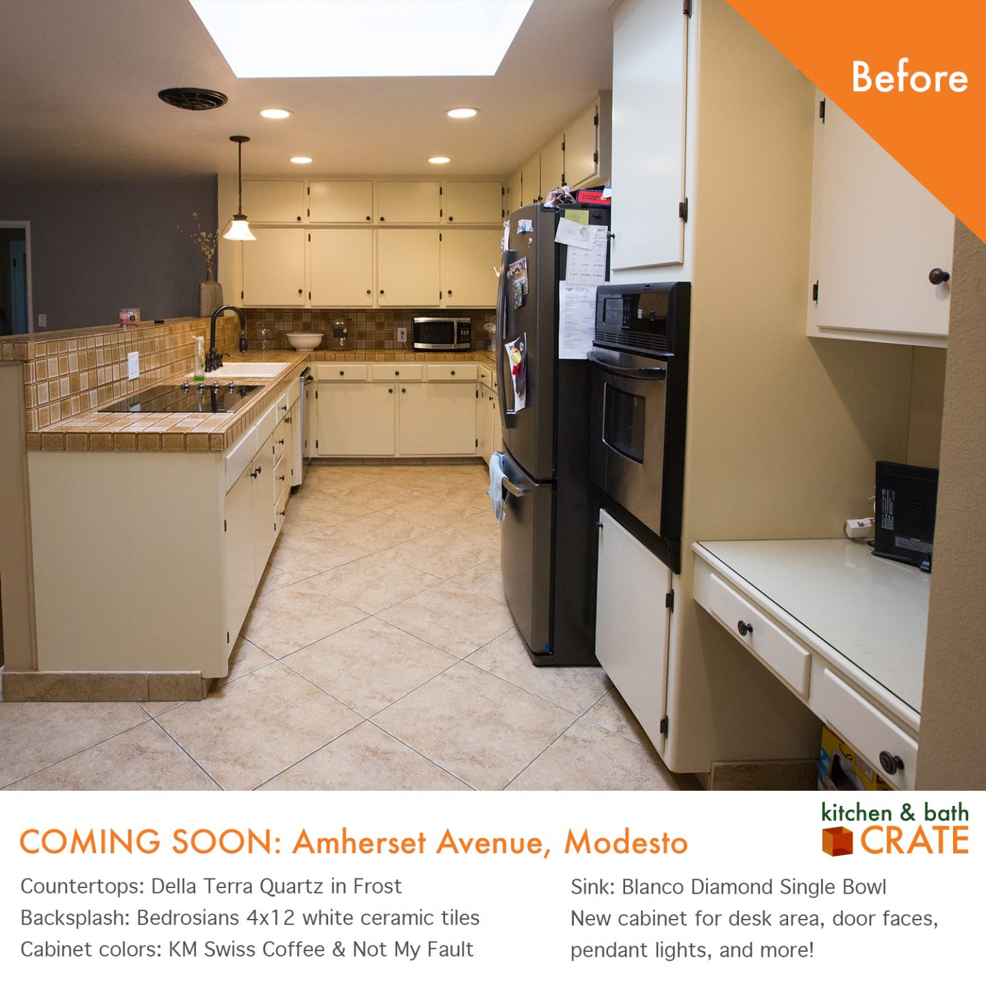 Kitchencrate amherst avenue is underway in modesto ca for Bath remodel modesto ca