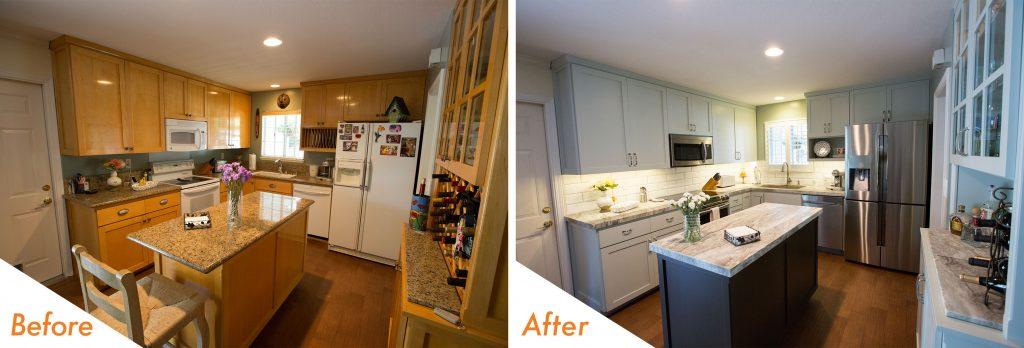 Pleasanton kitchen renovation.