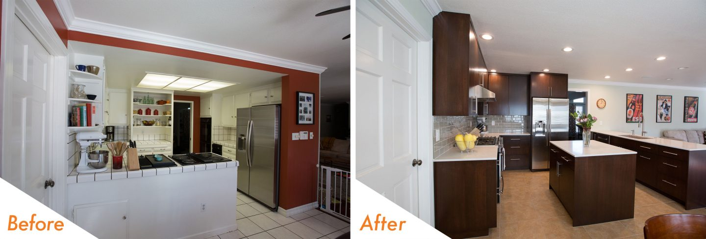 custom kitchen island and cabinets.