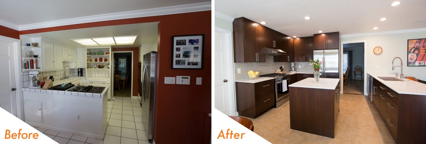 open concept kitchen remodel.