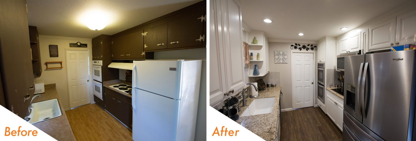 before and after custom kitchen Livermore.