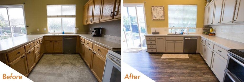 modern kitchen remodel.