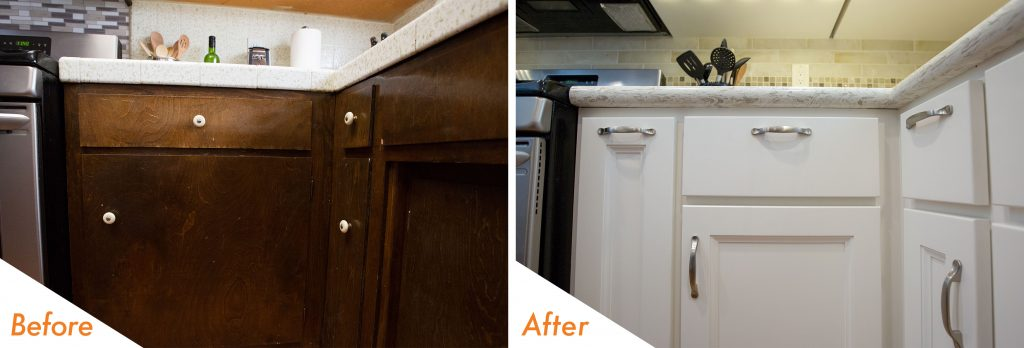 new cabinet paint and hardware.