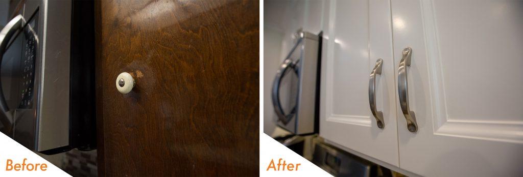 kitchen cabinet remodel.