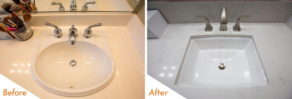 custom vanity sink and fixtures.