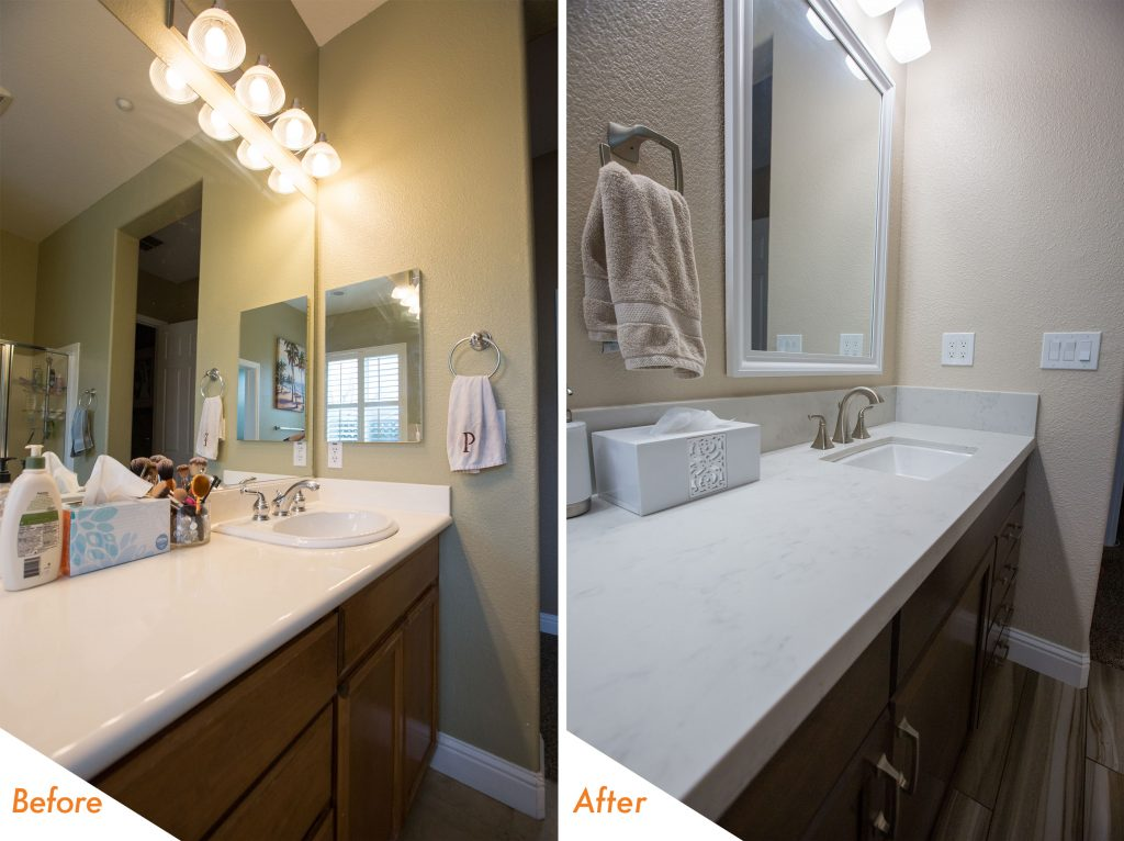 custom vanity bathroom remodel.