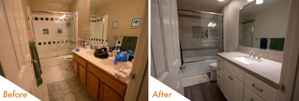 Hall bathroom remodel.