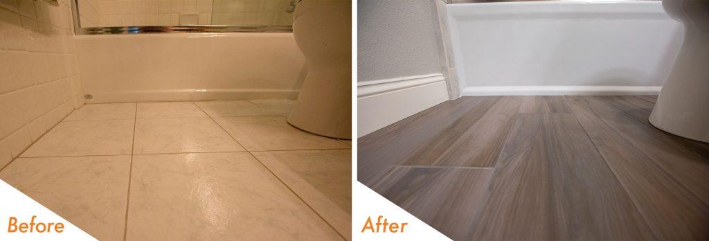 new bathroom tile flooring.