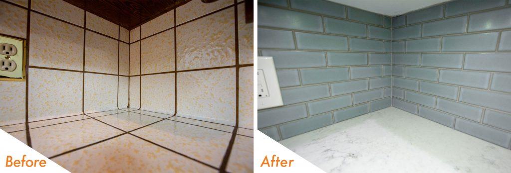 new tile backsplash.