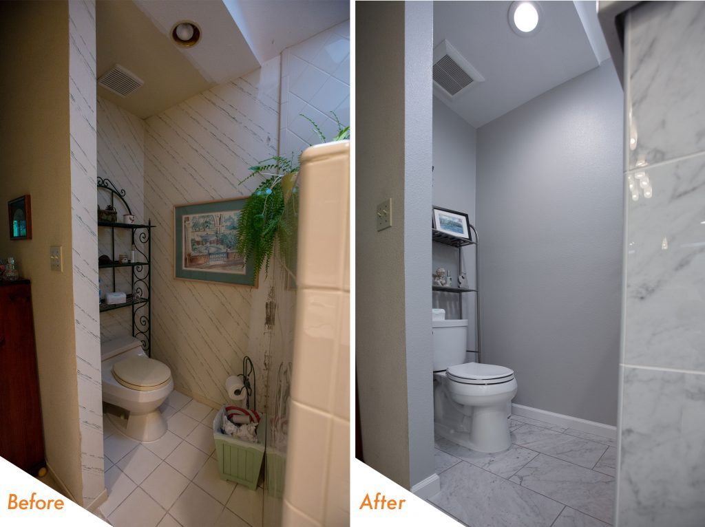 Before and After Toilet.