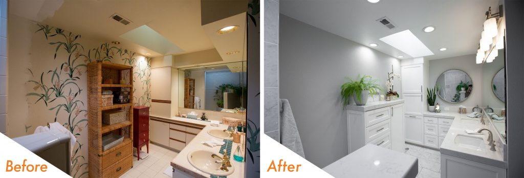 Before and After Spa Bathroom.