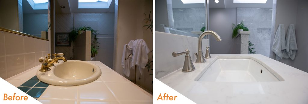Before and After Sink Fixtures.