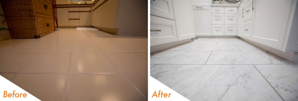 Before and After Flooring.