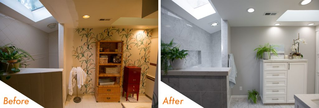 Before and After Walk-in Shower.
