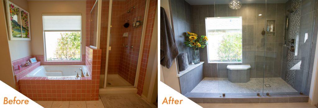 Modern Shower Remodel.