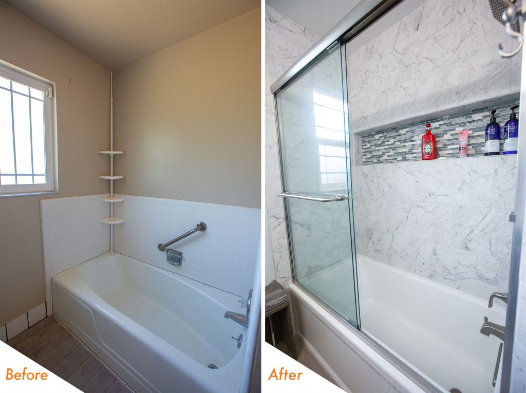 New shower/tub.
