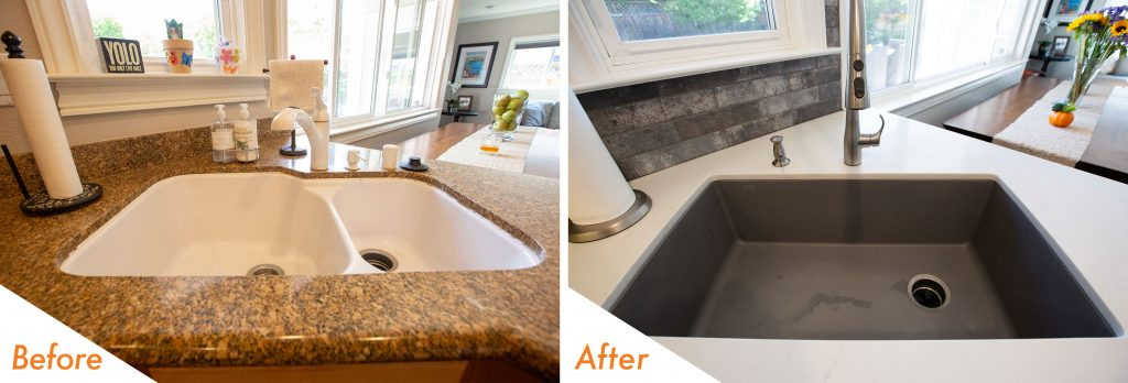 New Blanco Diamond Sink in Metalic Grey.