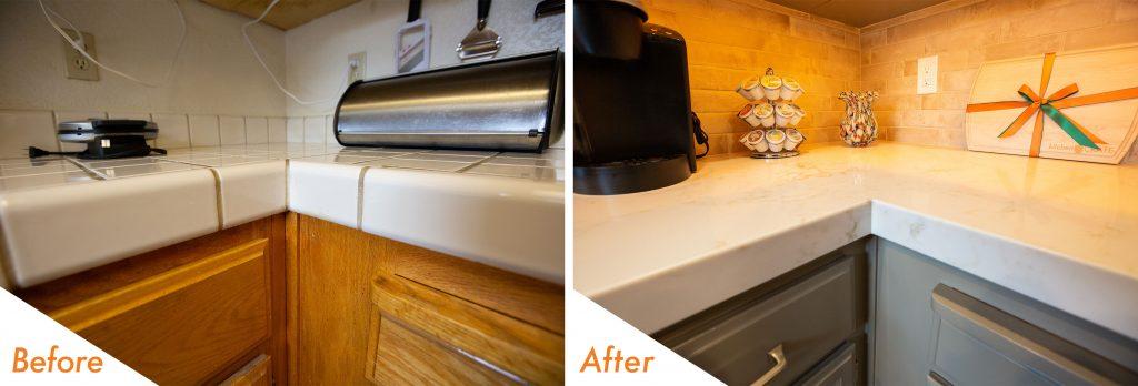modern kitchen renovation.