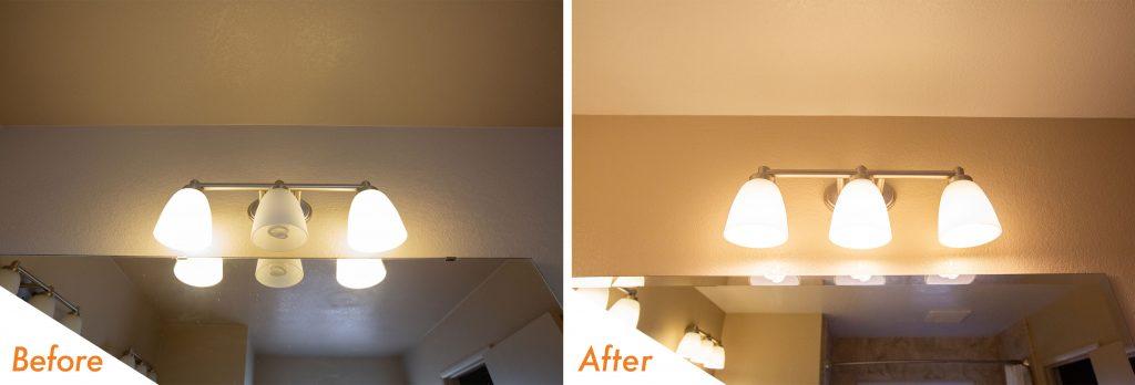 new bathroom lighting fixtures.