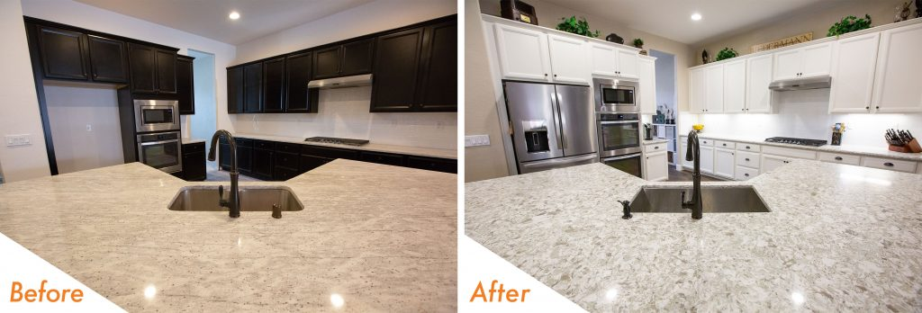 custom quartz countertop.