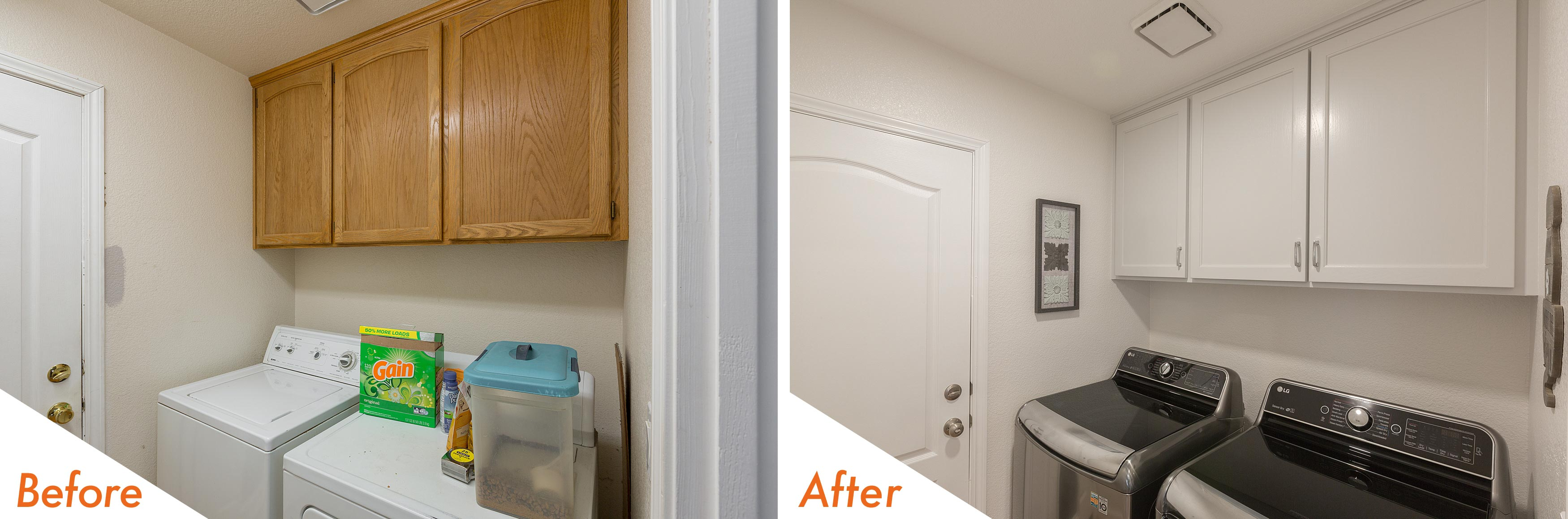 Before & After Laundry Remodel