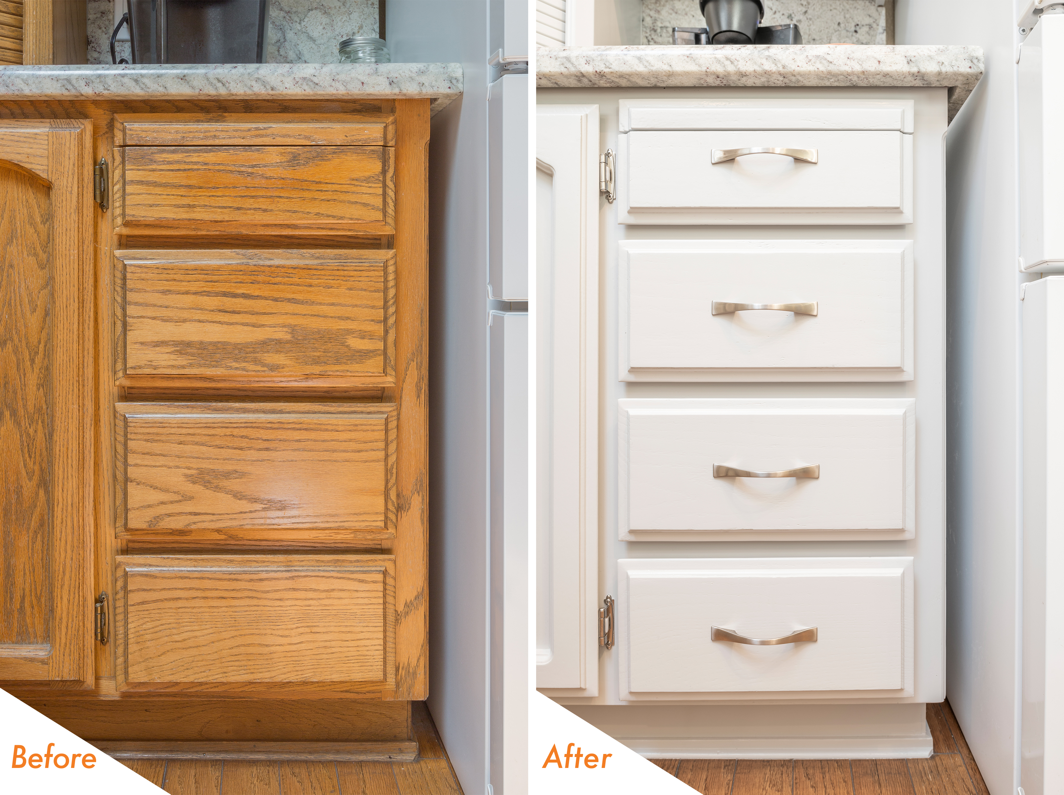 Before & After Kitchen Refinish
